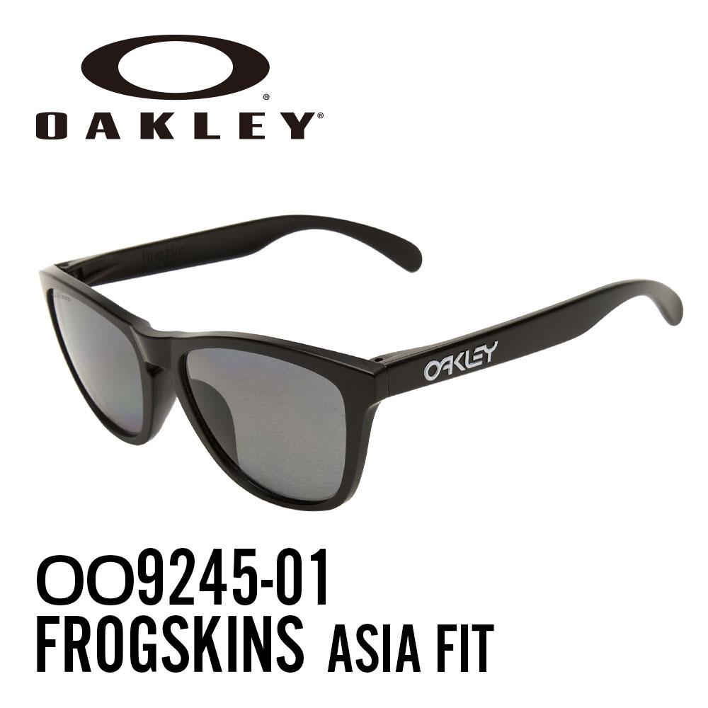 【ランキング1位】オークリー サングラス スポーツサングラスOAKLEY OO9245-01 (A) アジアフィット FROGSKINSPOLISHED BLACK レディース メンズ【A】