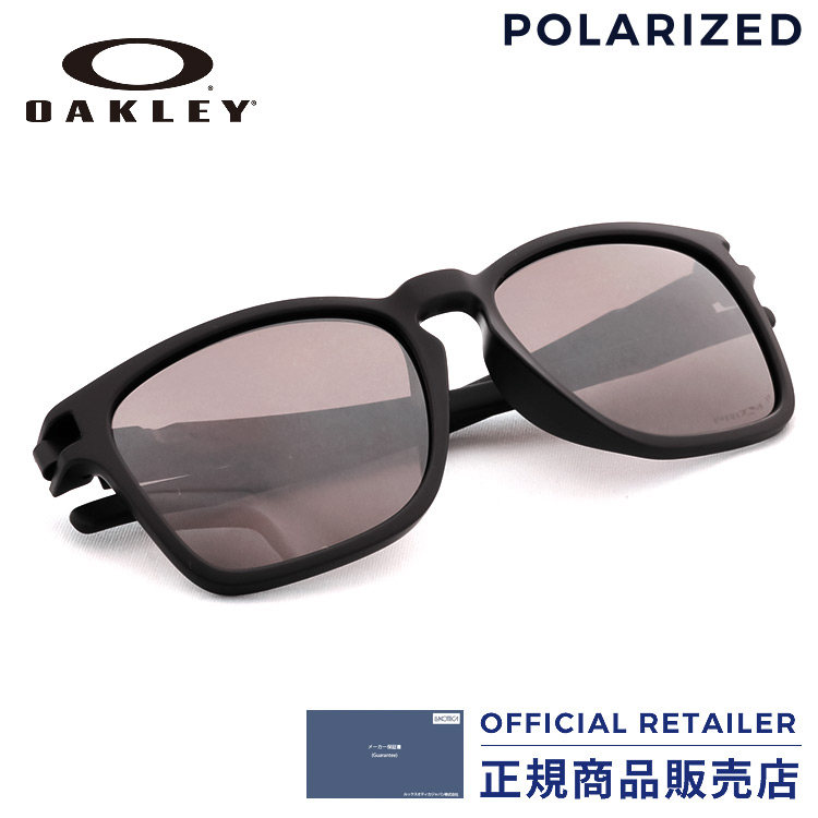 17c1fdf56d Oakley sunglasses sports sunglasses OAKLEY OO9358-06LATCH latch Asia  fitting Asia Fit SQ Matte Black Prizm Daily Polarized Lady s men