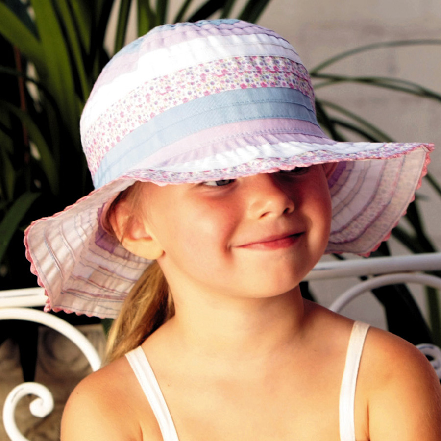Sun hat - Children s hat - Toddler Ribbon Bucket Hat UPF50+ EXCELLENT  PROTECTION which blocks  97.5% of the sun s UV radiations giving excellent  protection 238349677600