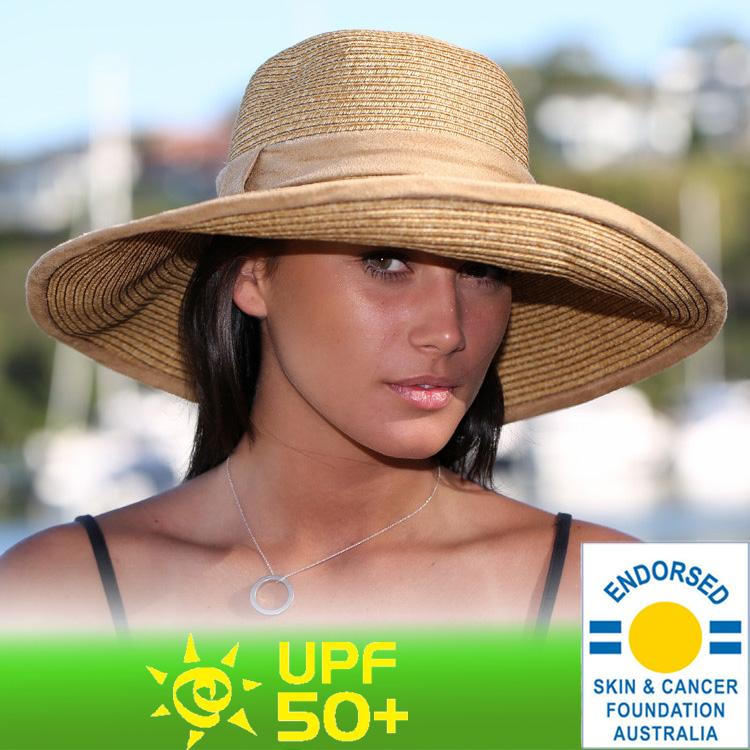 Straw Hat straw hat cut ladies Hat - big brimsheid Womens ladies   UV UV  (UV) maximum value of UPF 50 + f91965d4b60