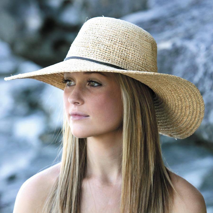 96577e7e9 UV cut straw hat ( raffia straw hats ) - women's hat - brim wide raffia  ladies ladies * UV (UV) best value UPF 50 +