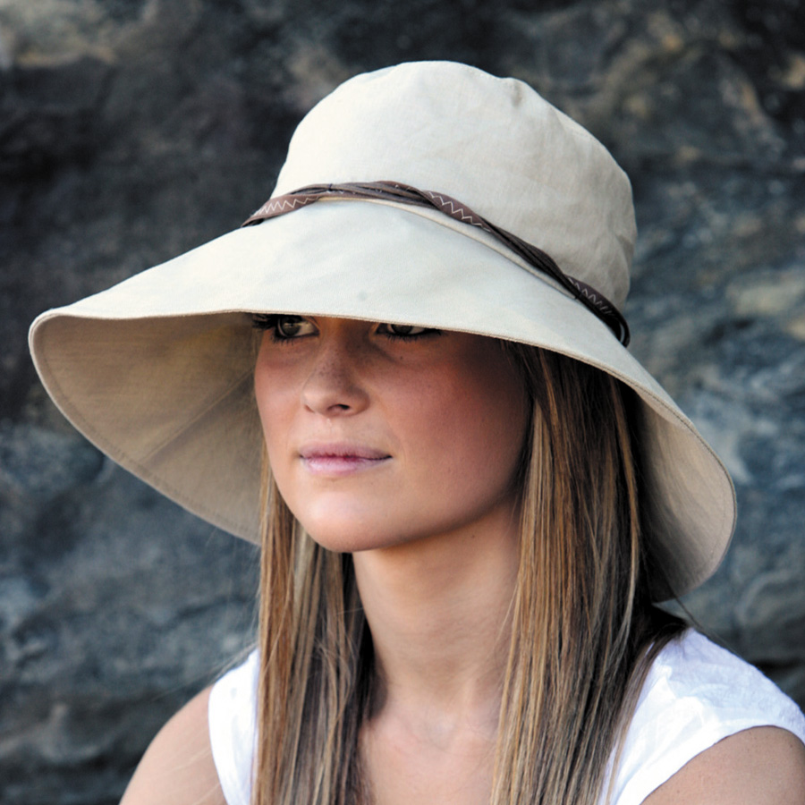 Sun hat - Ladies hat - Wide Brim Linen Hat - Beige UPF50+ EXCELLENT  PROTECTION which blocks  97.5% of the sun s UV radiations giving excellent  protection 466ff5edd8a