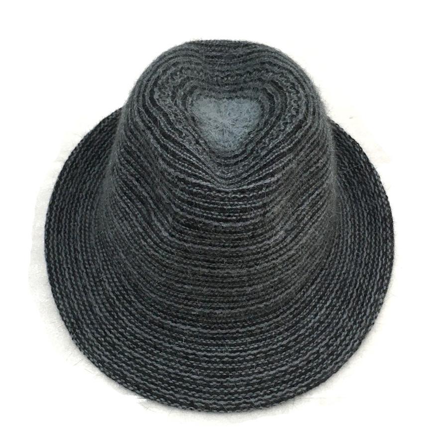 Sunglobe  Sun hat - Ladies hat - Angora Knit Fedora - Grey bb8499892d71
