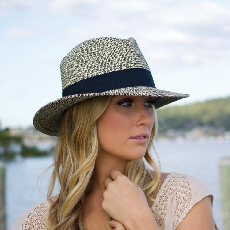 Straw Hat straw hat cut ladies Hat - マニュッシュシェイプ ladies ladies   UV UV (UV)  maximum value of UPF 50 + 0bbddecd3bc