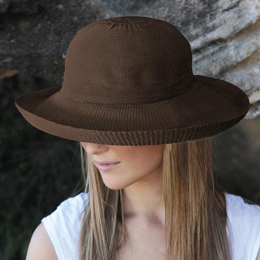 a6baeb8e029d2 UV cut hat (for women)-Womens Sun Hat - silhouette style color  chocolate