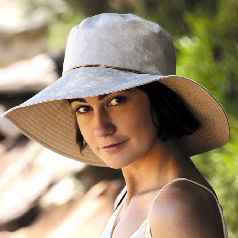 Sun hat - Ladies hat - Wide Brim Linen Hat Khaki UPF50+ EXCELLENT  PROTECTION which blocks  97.5% of the sun s UV radiations giving excellent  protection 39086ca45ac