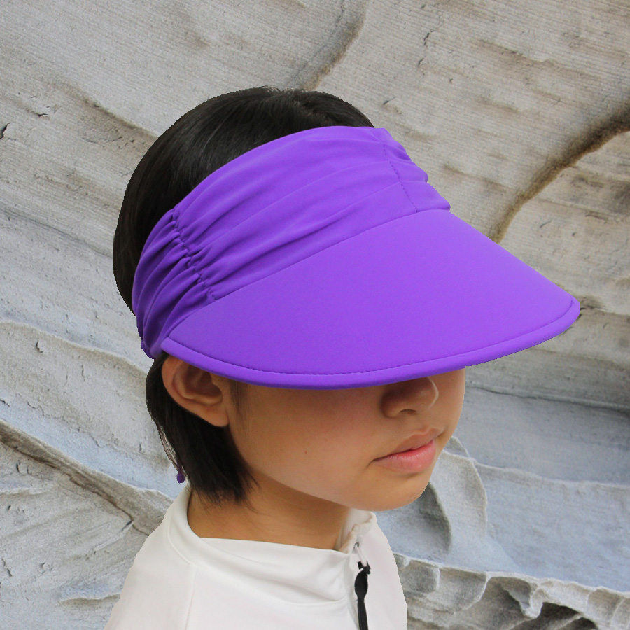 Sun hat - Ladies visor - Lycra Adjustable Visor - Purple UPF50+ EXCELLENT  PROTECTION which blocks  97.5% of the sun s UV radiations giving excellent  ... c6f7a68434b