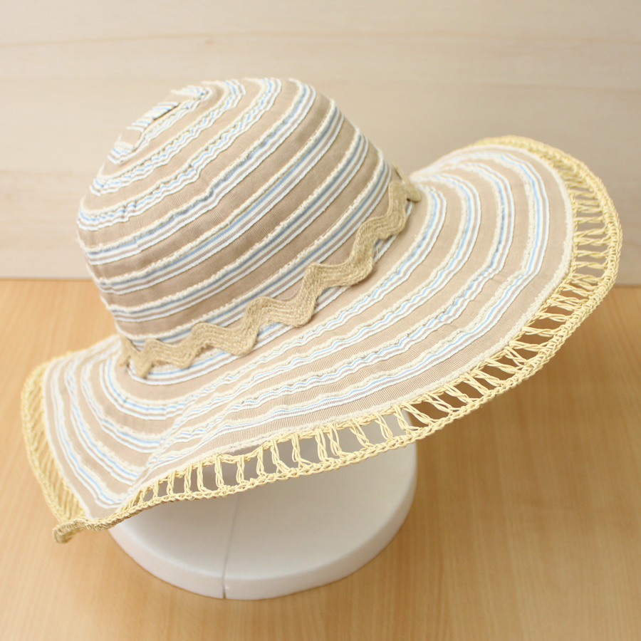 87d0f16819dcc Sun hat - Ladies hat - Two Toned Ribbon Capeline - Natural UPF50+ EXCELLENT  PROTECTION which blocks  97.5% of the sun s UV radiations giving excellent  ...