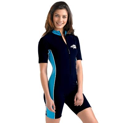 UVカット 水着(レディース・女性用) - レディース スイムウェア(ブラパット付き) スイムスーツ つなぎ フィットネス 水着※紫外線カット(UVカット)最高値UPF50+