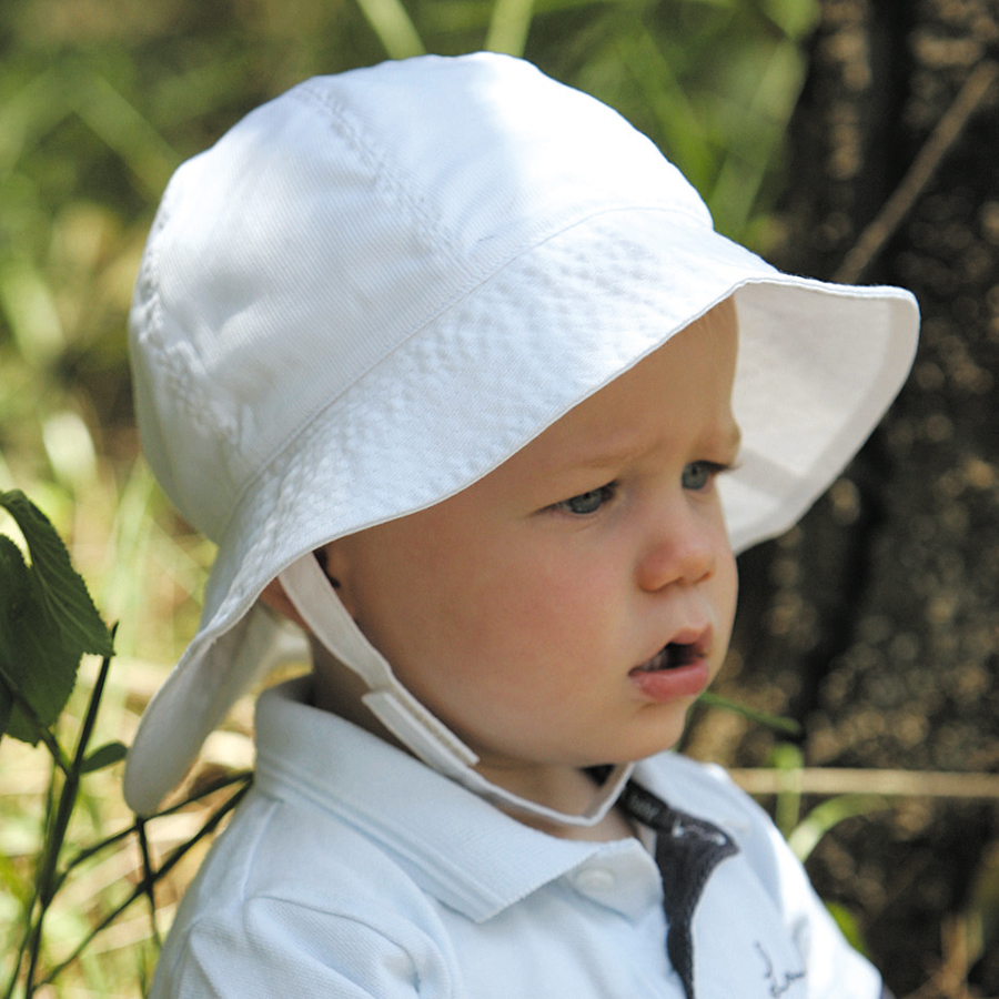 Sun hat - Children s hat - Toddler Souwester White UPF50+ EXCELLENT  PROTECTION which blocks  97.5% of the sun s UV radiations giving excellent  protection a9f53a51a0b