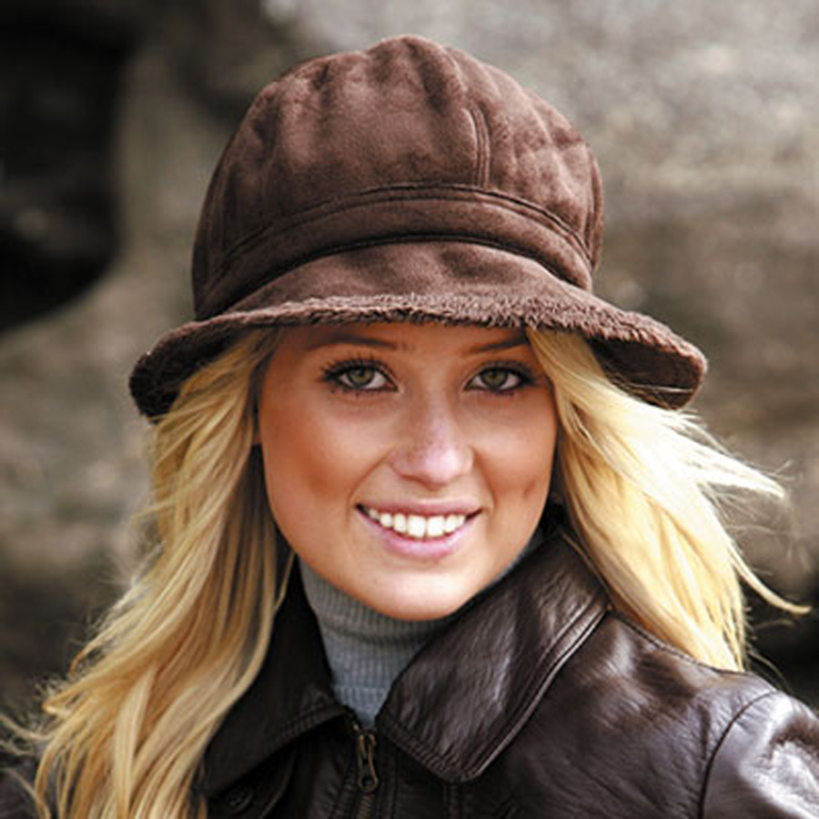 3aafed66c0c Sunglobe  Ladies winter suede Hat