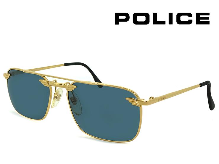 ポリス ヴィンテージ サングラス 2147-004 police レトロ 訳あり メンズ Sサイズ スクエア ツーブリッジ UVカット