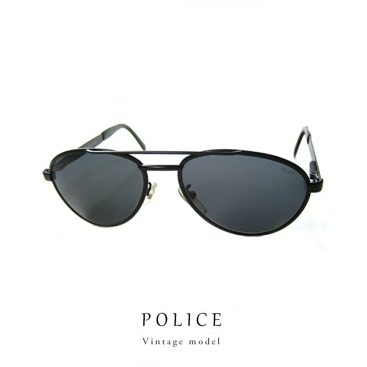 0cfc091a8e2 Police sunglasses (UV) POLICE 2435 (531) / metal frame only with case cloth  and cheap translation Ali vintage model retro / men's ladies men women
