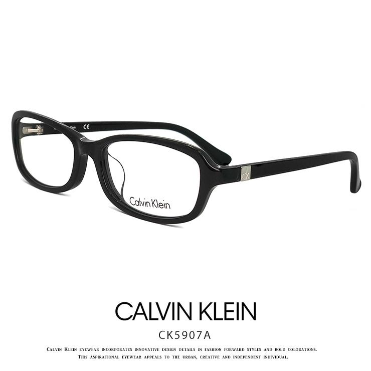カルバンクライン メガネ ck5907a-001 calvin klein 眼鏡 メンズ [ 度付き,ダテ眼鏡,クリアサングラス,老眼鏡 として対応可能 ] Calvin Klein titanium カルバン・クライン オーバル スクエア 黒縁 黒ぶち アジアンフィット モデル