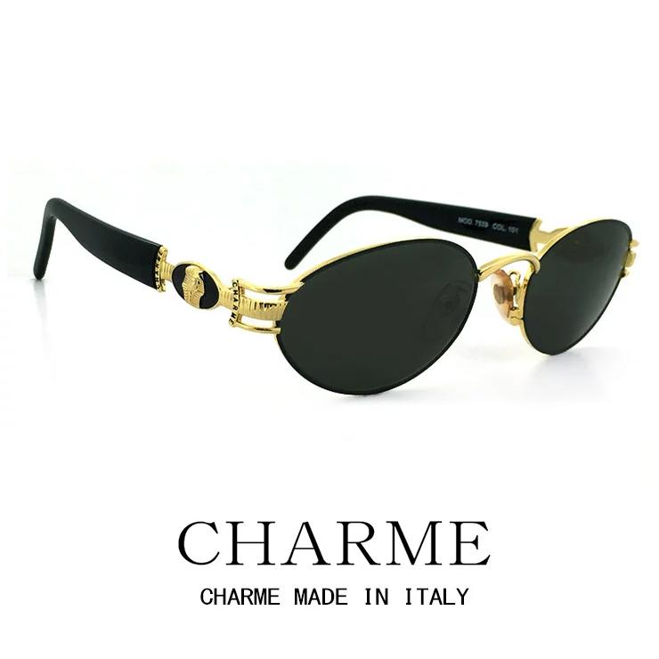 CHARME (シャルム) サングラス 7539-101 レトロ ヴィンテージ クラシック メンズ レディース ラウンド オーバル