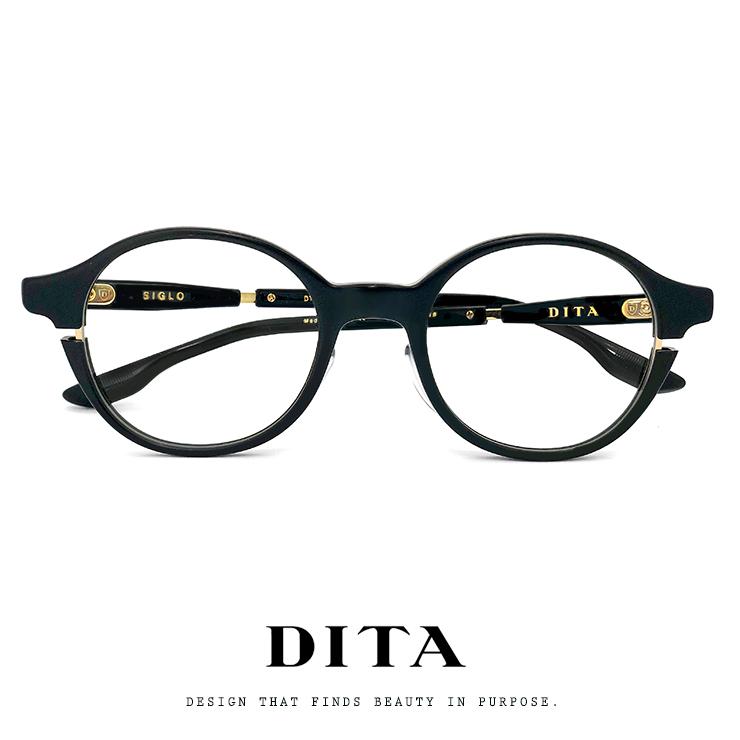 日本製 DITA メガネ ディータ Siglo dtx113-48-01 01af-48 ボストン ラウンド ロイド型 DITA 眼鏡 メンズ レディース [ 度付き,ダテ眼鏡,クリアサングラス,老眼鏡 として対応可能 ] 黒ぶち 黒縁 MADE IN JAPAN