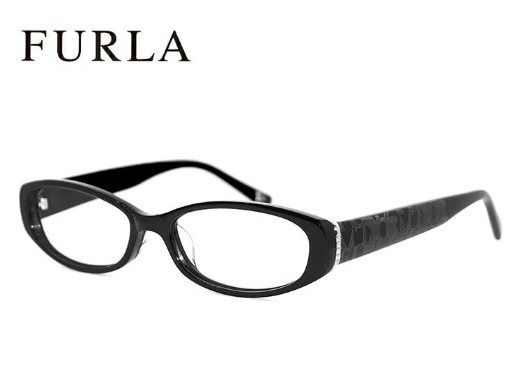 フルラ メガネ FURLA 眼鏡 VU4805j 700 【度付き 度なし 老眼鏡対応 薄型レンズ付】[ ジャパンフィット モデル ] ブラック セル フレーム レディース 女性用