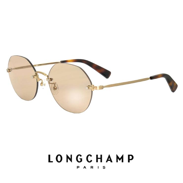 ロンシャン レディース サングラス lo125sj 710 longchamp ジャパンフィットモデル UVカット UV400 フチなし ツーポイント