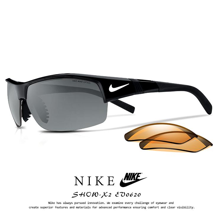 ナイキ サングラス EV0620 001 SHOW-X2 NIKE [ ゴルフ テニス 野球 ウィンタースポーツ サイクリング ランニング にオススメ ] ev0620 show x2 ショ-エックス2 メンズ 男性用 スポーツサングラス ブラック
