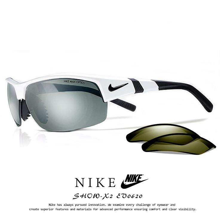 ナイキ サングラス EV0620 101 SHOW-X2 NIKE ev0620 show x2 ショ-エックス2 メンズ 男性用 スポーツサングラス ミラーレンズ アウトドア 登山 ランニング
