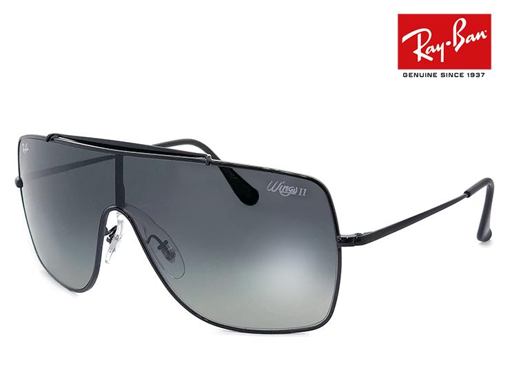 レイバン メンズ サングラス rb3697 002/11 WINGS II Ray-Ban rayban 00211 メンズ レディース ウイングス 2 1枚レンズ シールド