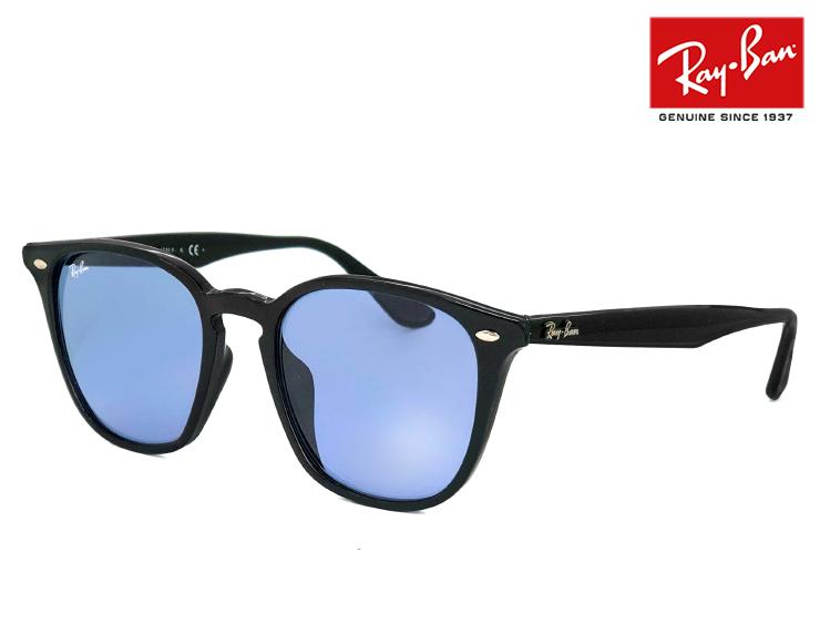 レイバン サングラス Ray-Ban rb4258f 60180 52mm rb4258-f 601/80 メンズ レディース ウェリントン 型 フレーム ライトカラー ブルー レンズ