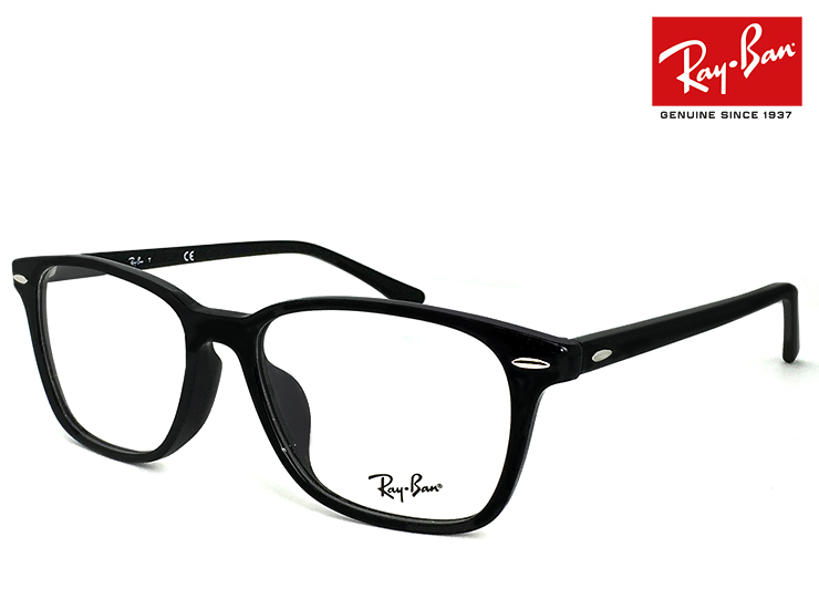 レイバン 眼鏡 メガネ Ray-Ban RB7119f ( 2000 )[ 度付き,ダテ眼鏡,クリアサングラス,老眼鏡 として対応可能 ] ウェリントン メンズ レディース RX7119f 黒縁