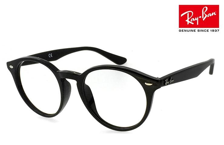 レイバン 眼鏡 メガネ Ray-Ban RB2180VF ( 2000 )[ 度付き,ダテ眼鏡,クリアサングラス,老眼鏡 として対応可能 ] ボストン型 丸めがね メンズ レディース RX2180VF 黒縁