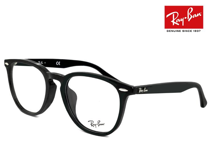 レイバン 眼鏡 メガネ Ray-Ban rx7159f 2000 52mm [ 度付き・伊達メガネ・クリアサングラス・老眼鏡として 対応可能な UVカット レンズ 付き ] 丸メガネ フレーム 黒ぶち めがね メンズ レディース RX 7159 F rb7159f ボストン 型