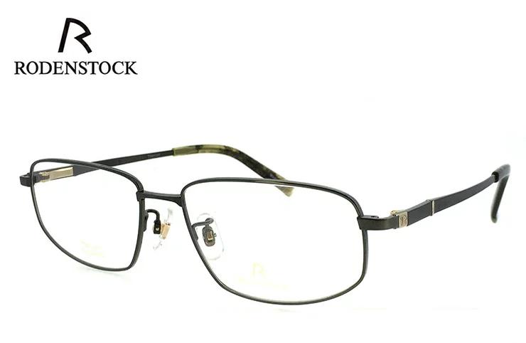 ローデンストック 眼鏡 (メガネ) 日本製 RODENSTOCK R0123 C [ 度付き & 度なし 対応 薄型 UVカットレンズ付き ] チタン [ メンズ 男性用 眼鏡 ] [ ダテ眼鏡,クリアサングラス,老眼鏡として 対応可能 ] バネ蝶番 exclusiv エクスクルーシブ