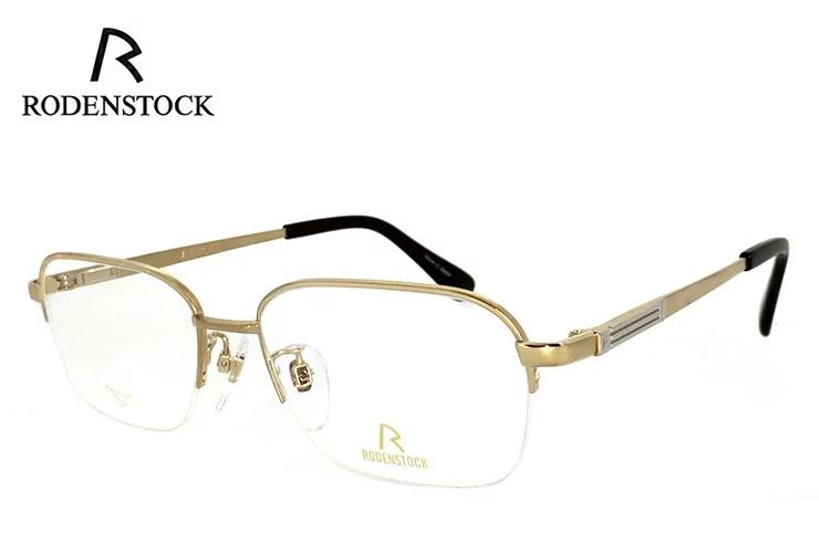 ローデンストック 眼鏡 (メガネ) 日本製 RODENSTOCK R0202 A [ 度付き & 度なし 対応 薄型 UVカットレンズ付き ] チタン ナイロール [ メンズ 男性用 眼鏡 ] [ ダテ眼鏡,クリアサングラス,老眼鏡として 対応可能 ]
