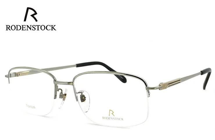 ローデンストック 眼鏡 (メガネ) 日本製 RODENSTOCK R0362 B [ 度付き & 度なし 対応 薄型 UVカットレンズ付き ] チタン [ メンズ 男性用 眼鏡 ] [ ダテ眼鏡,クリアサングラス,老眼鏡として 対応可能 ] バネ蝶番 exclusiv エクスクルーシブ