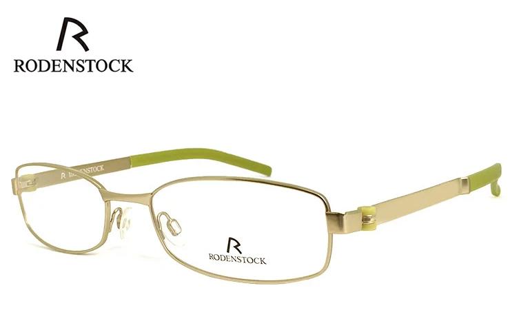 ローデンストック 眼鏡 (メガネ) RODENSTOCK r4684 A メタル スクエア型 フレーム メンズ 男性用 [ 度付き・伊達メガネ・クリアサングラス・老眼鏡として 対応可能な UVカット レンズ 付き ] ローデン ストック