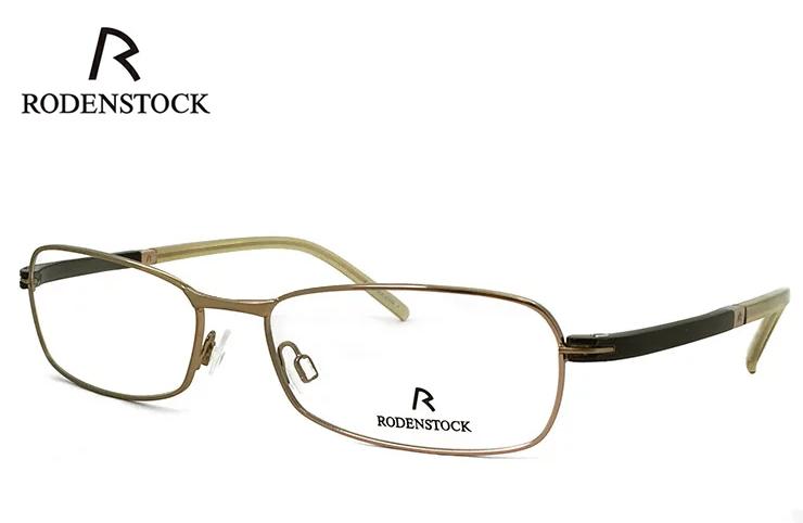 ローデンストック 眼鏡 (メガネ) RODENSTOCK r4717 B メタル コンビネーション スクエア型 フレーム メンズ 男性用 [ 度付き・伊達メガネ・クリアサングラス・老眼鏡として 対応可能な UVカット レンズ 付き ] ローデン ストック