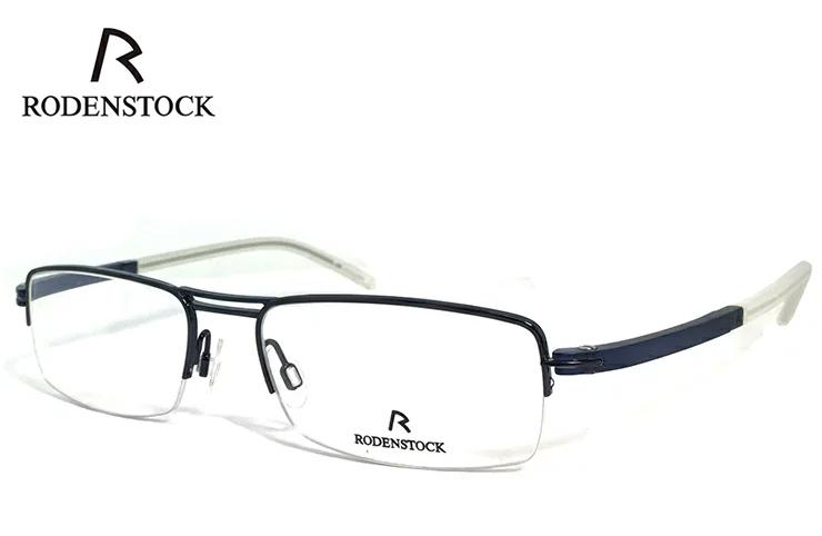 ローデンストック 眼鏡 (メガネ) RODENSTOCK r4720 D ナイロール ハーフリム コンビネーション フレーム メンズ 男性用 [ 度付き・伊達メガネ・クリアサングラス・老眼鏡として 対応可能な UVカット レンズ 付き ] ローデン ストック