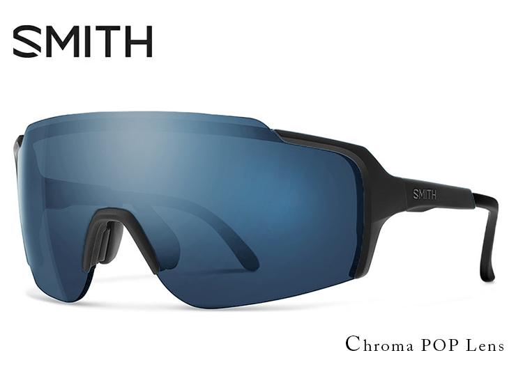 SMITH スミス サングラス FLYWHEEL matte black chromapop sun black フライウィール 1枚レンズ シールド型 サングラス メンズ 度付き 対応 スポーツサングラス