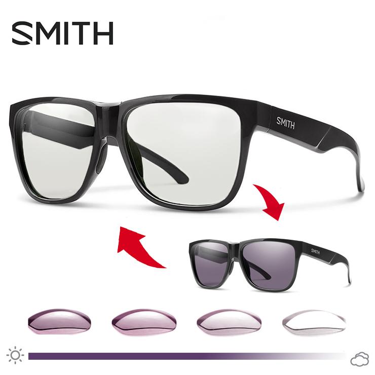 SMITH (スミス) 調光サングラス Lowdown2 807 Black Photochromic Clear ( photo c ) サングラス メンズ 男性用 調光レンズ NXTレンズ lowdown 2