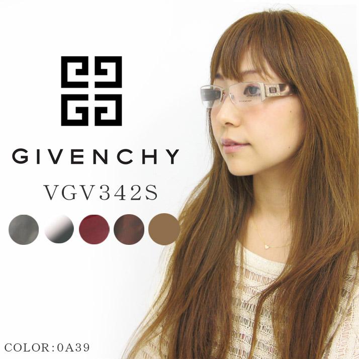 GIVENCHY 眼鏡 (メガネ) ジバンシー vgv342s 女性用 レディース/ 度なし 度付き どちらも UVカット レンズ を使用 紫外線対策 や 伊達メガネにもオススメ