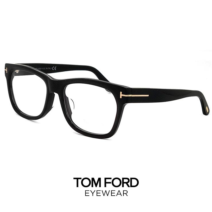 トムフォード メガネ ft5468-f/v 002 TOM FORD 眼鏡 アジアンフィットモデル 黒ぶち [ 度付き,ダテ眼鏡,クリアサングラス,老眼鏡 として対応可能 ] tomford ft5468f tf5468f ウェリントン型 メンズ 黒縁