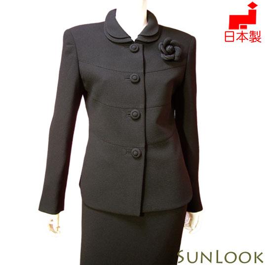大きいサイズ(Lサイズ)ブラックフォーマル ジャケット 単品【日本製】2枚衿ゆったりフォーマルジャケット レディース ミセス 女性礼服 喪服 トールサイズ対応