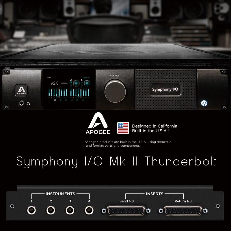 APOGEE SYMPHONY I/O MKII 8x8+8MP Thunderbolt Apple純正TBケーブルプレゼント!安心の日本正規品!