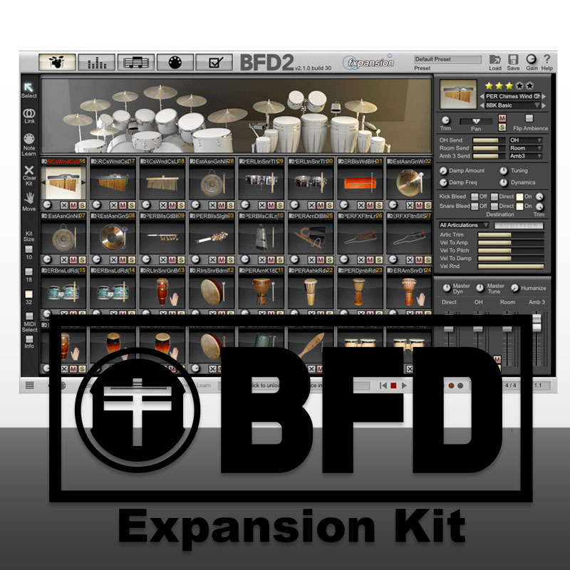 FXPANSION BFD PERCUSSION EXPANSION PACK ダウンロード版 安心の日本正規品!拡張音源