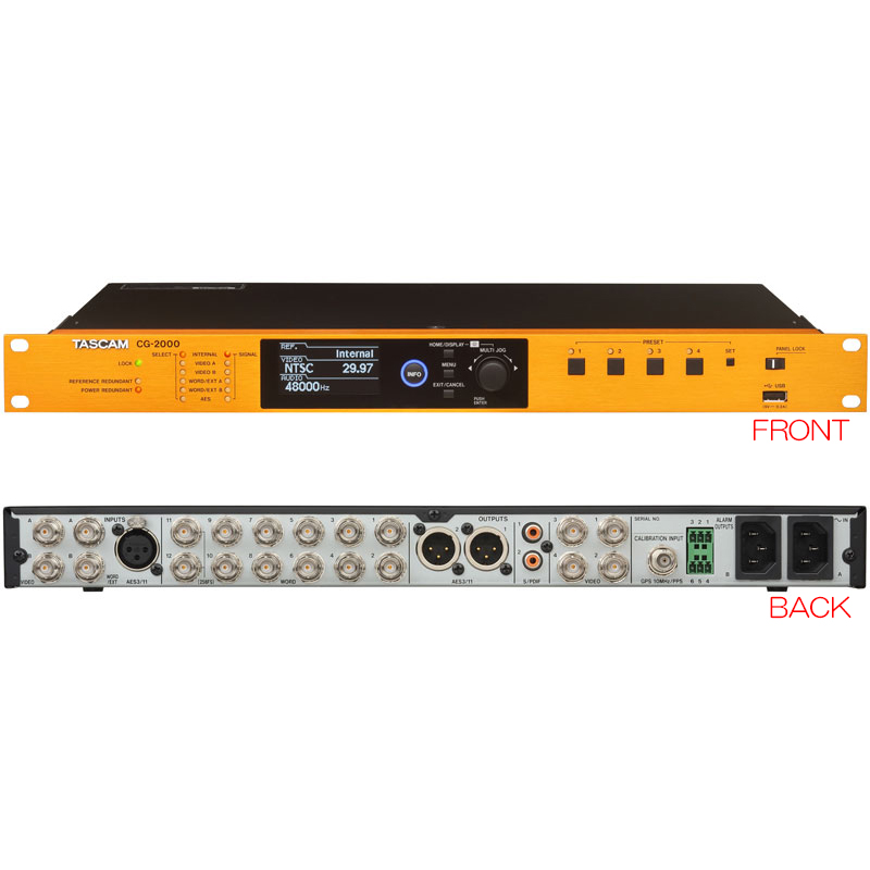 TASCAM CG-2000 マスタークロックジェネレーター