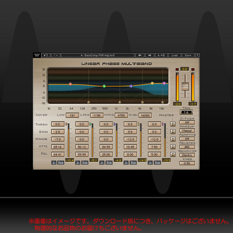 WAVES Linear Phase Multiband Compressor ダウンロード版 安心の日本正規品!