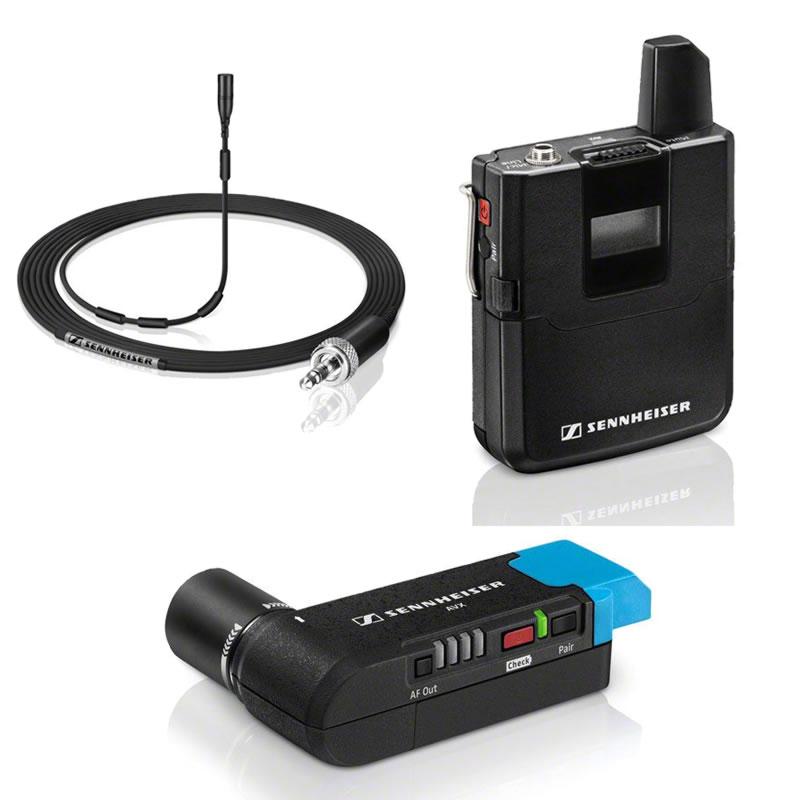 SENNHEISER AVX MKE2 SET ビデオカメラ用 ワイヤレスマイクセット【クリップマイクタイプ】