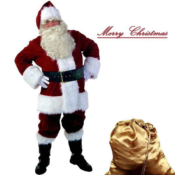 【サイズ有S/M】サンタクロース サンタさん パーティー クリスマス衣装 コスプレ コスチューム サンタコスチューム スタンダード 大きいサイズ クリスマス仮装 お祝い 演出服/代引き不可 P08Apr16