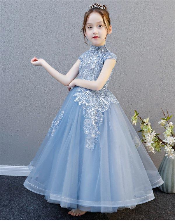 cd991bc22e65c サイズ有100~160 子供 ドレス キッズスーツ ロング ファッション ...