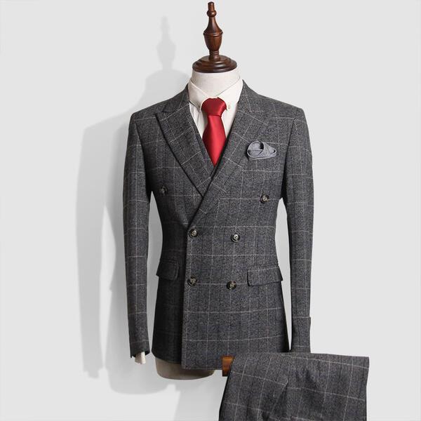 【サイズ有M~3XL】ダブルブレスト ビジネススーツ シングル メンズスーツ 紳士服 suit ベスト付き ブルースーツ メンズ大きいサイズおしゃれスーツ 春 夏 細身 結婚式 フォーマル スリムスーツ オシャレ グレーdg036g4g4d4/代引き不可