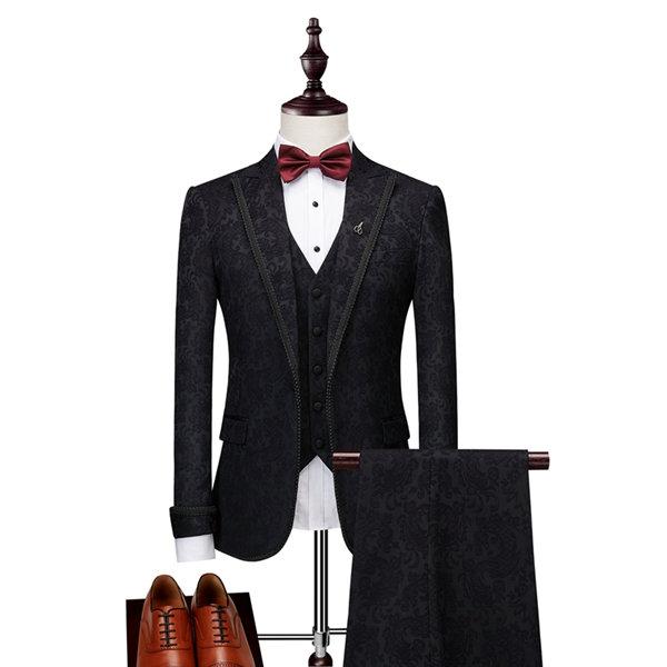 スーツ メンズ スリムスーツ 就活 紳士服 礼服 suit 細身 高級感 お洒落 スリム体型 メンズスーツ フォーマルスーツ大量注文にも対応しています ビジネス カジュアル 2XL 面接 ベスト付き L XL ブランド買うならブランドオフ おしゃれ 3XL スリム 結婚式 M ブラック フォーマル 刺繍 出荷 代引き不可