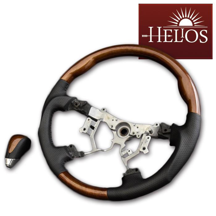 インテリア 200系 ハイエース 【スーパーセール限定】HELIOS ステアリング  シフトノブ セット ハイエース 200系 1-5型